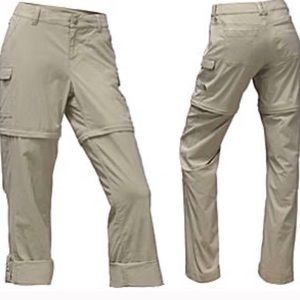 The north face size 2 tear away convertible pants